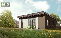 projekty - Jednopodlažní rodinný dům s pultovou střechou