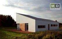 projekty - Nízkoenergetický rodinný dům s mezonetem