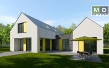 Dvougenerační dům s pultovou střechou