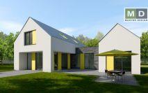 projekty - Dvougenerační dům s pultovou střechou