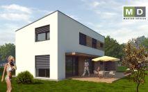 projekty - Pasivní rodinný dům s plochou střechou