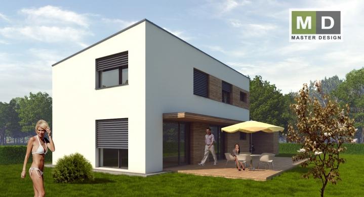 Pasivní rodinný dům s plochou střechou