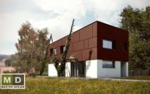Patrový dům s pultovou střechou