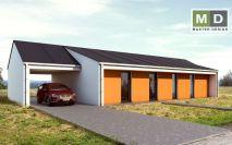projekty - Přízemní dům s oranžovým obkladem