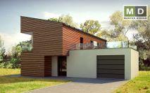 projekty - Dům s dřevěným obkladem